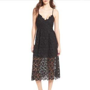 Astr Dresses - ASTR Black Lace Midi Dress. GORGEOUS LBD!